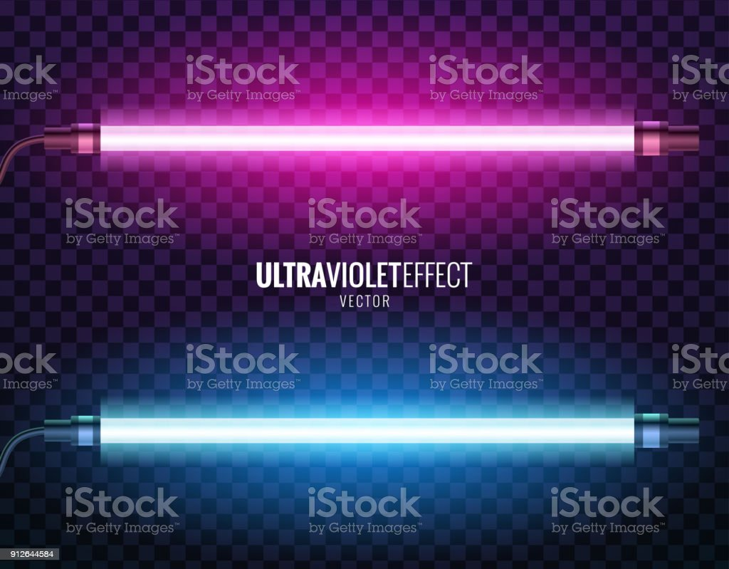Vector of ultraviolet light. vector art illustration