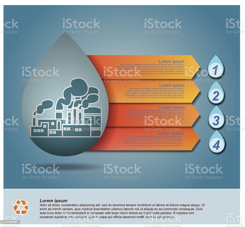 Vector of water drop, infographic design vector art illustration