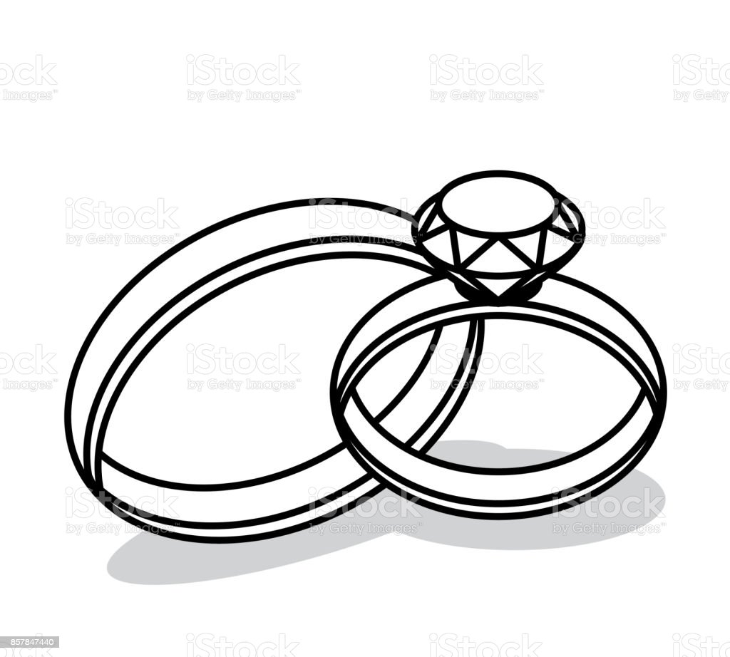 Vector Of Wedding Rings Stock Illustration Download Image Now Istock