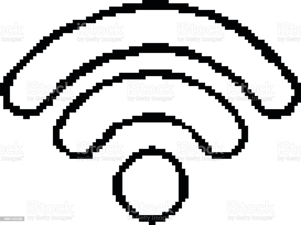 Vector Of Wifi Icon 8 Bit Pixel Eps8 Stock Vector Art More Images