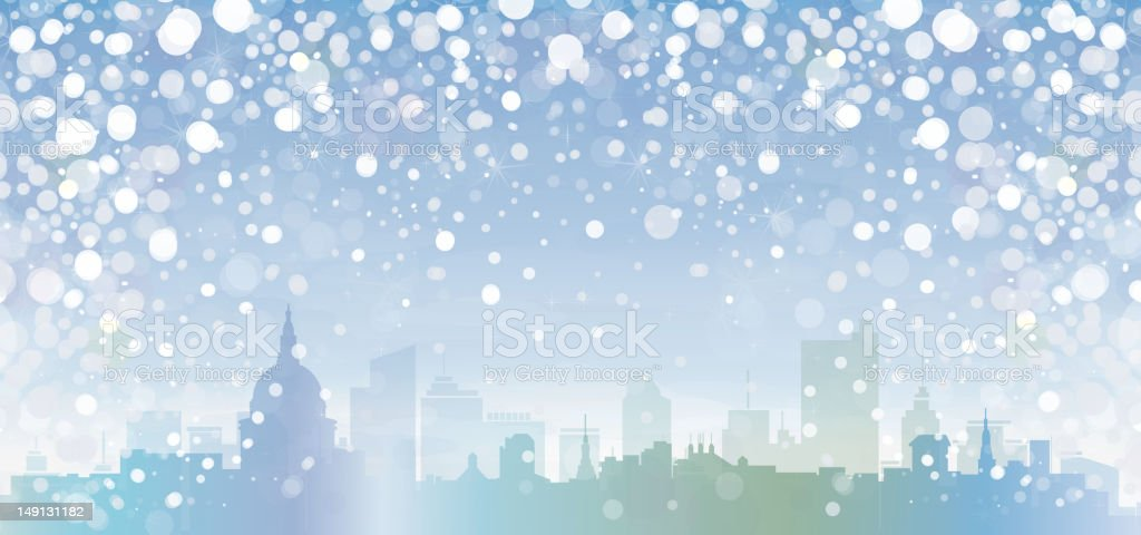 Vector of winter cityscape. royalty-free vector of winter cityscape stock vector art & more images of architecture