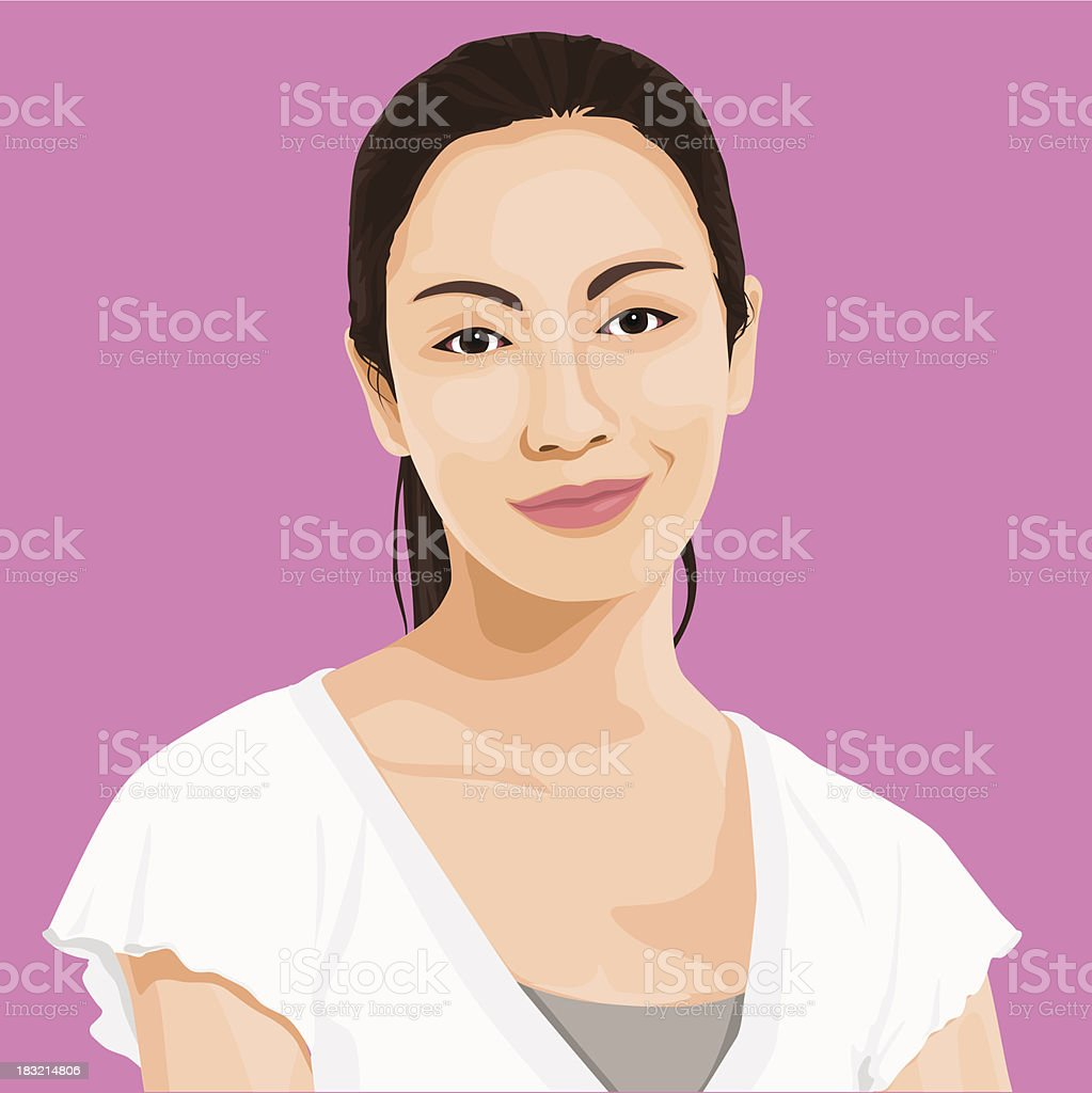 Vector of Wise Lady Portrait vector art illustration