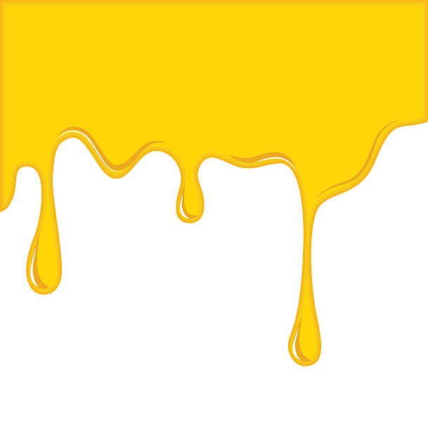 vector of yellow cheese or oil melting for background - チーズ 溶ける点のイラスト素材/クリップアート素材/マンガ素材/アイコン素材