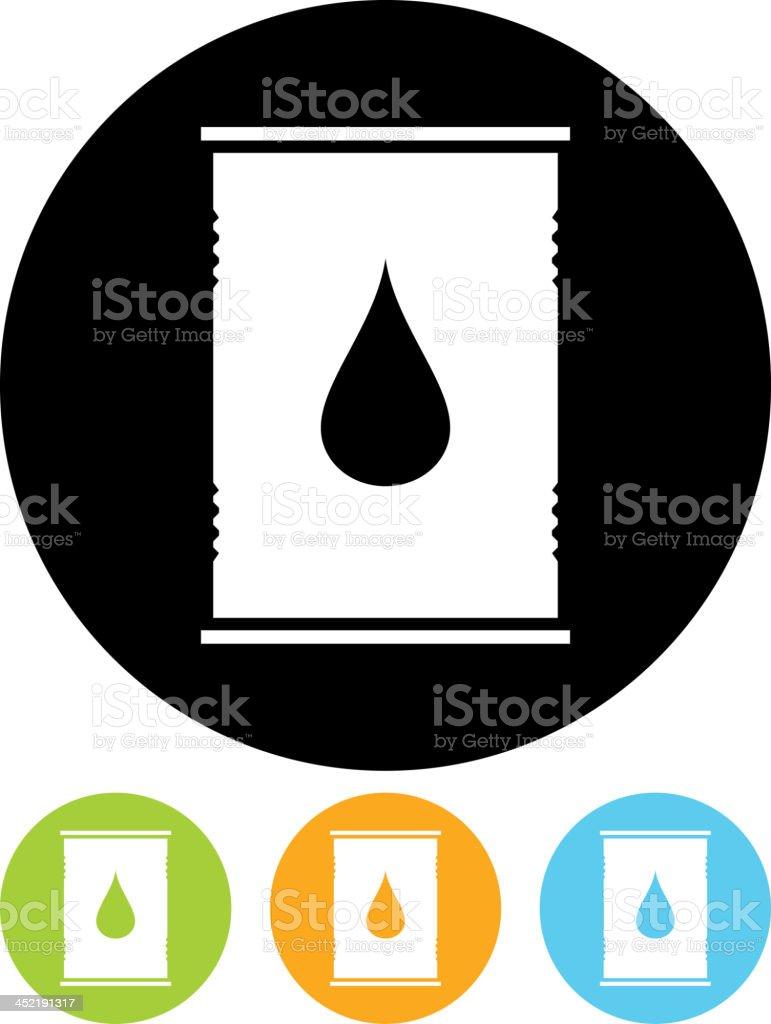 Vector oil barrel royalty-free stock vector art