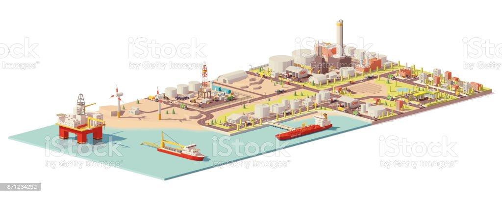 Infografía de extracción y consumo de aceite Vector - ilustración de arte vectorial