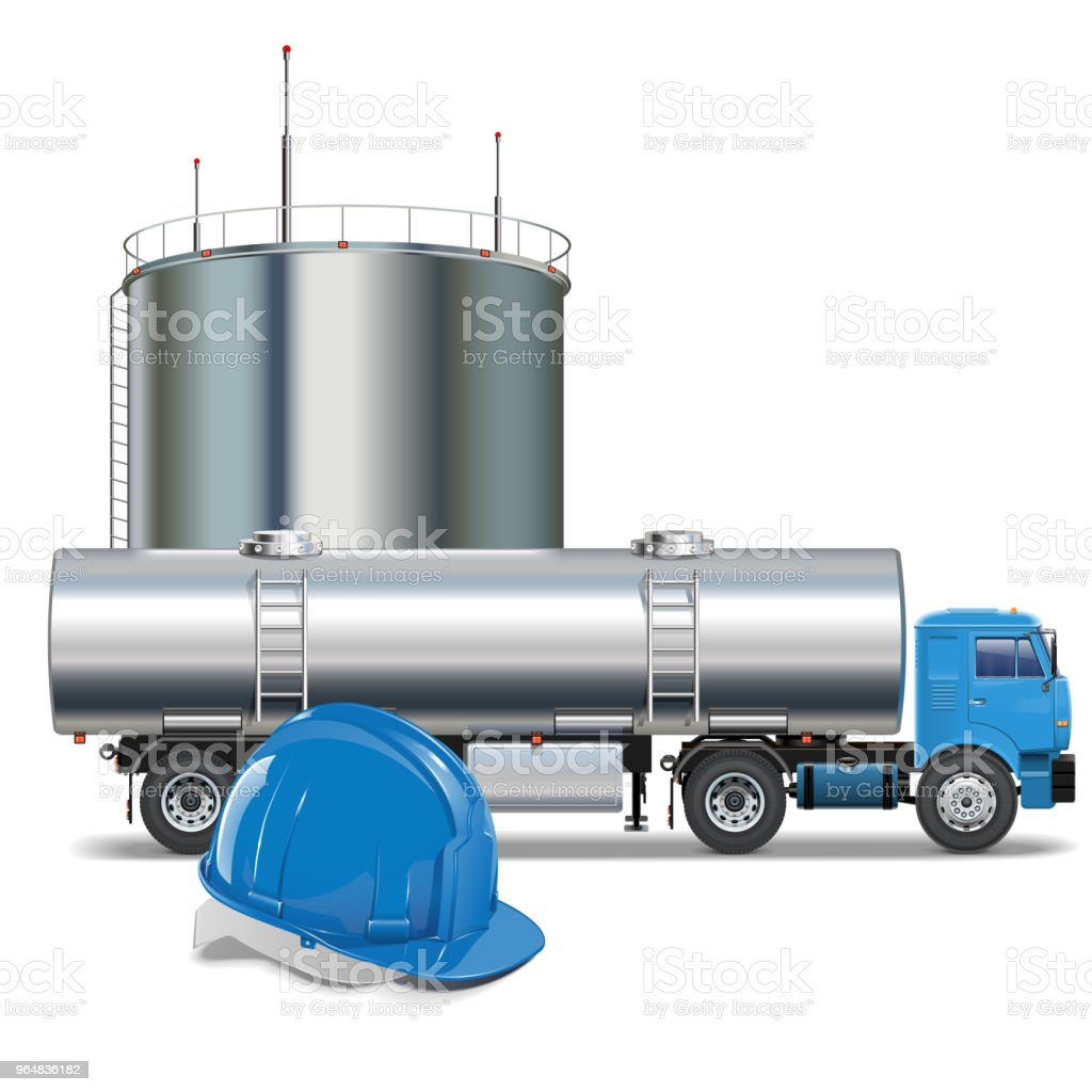 Vector Oil Industry Concept with Tank Truck royalty-free vector oil industry concept with tank truck stock vector art & more images of blue