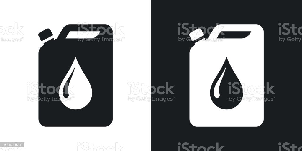 Vector oil jerrycan icon. Two-tone version vector art illustration