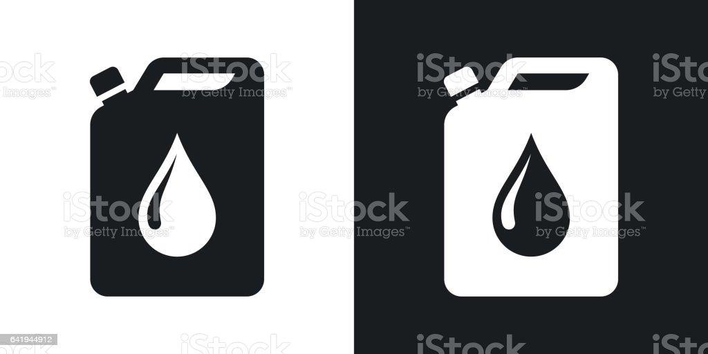 Vektor-Öl-Kanister-Symbol. Zweifarbige version – Vektorgrafik