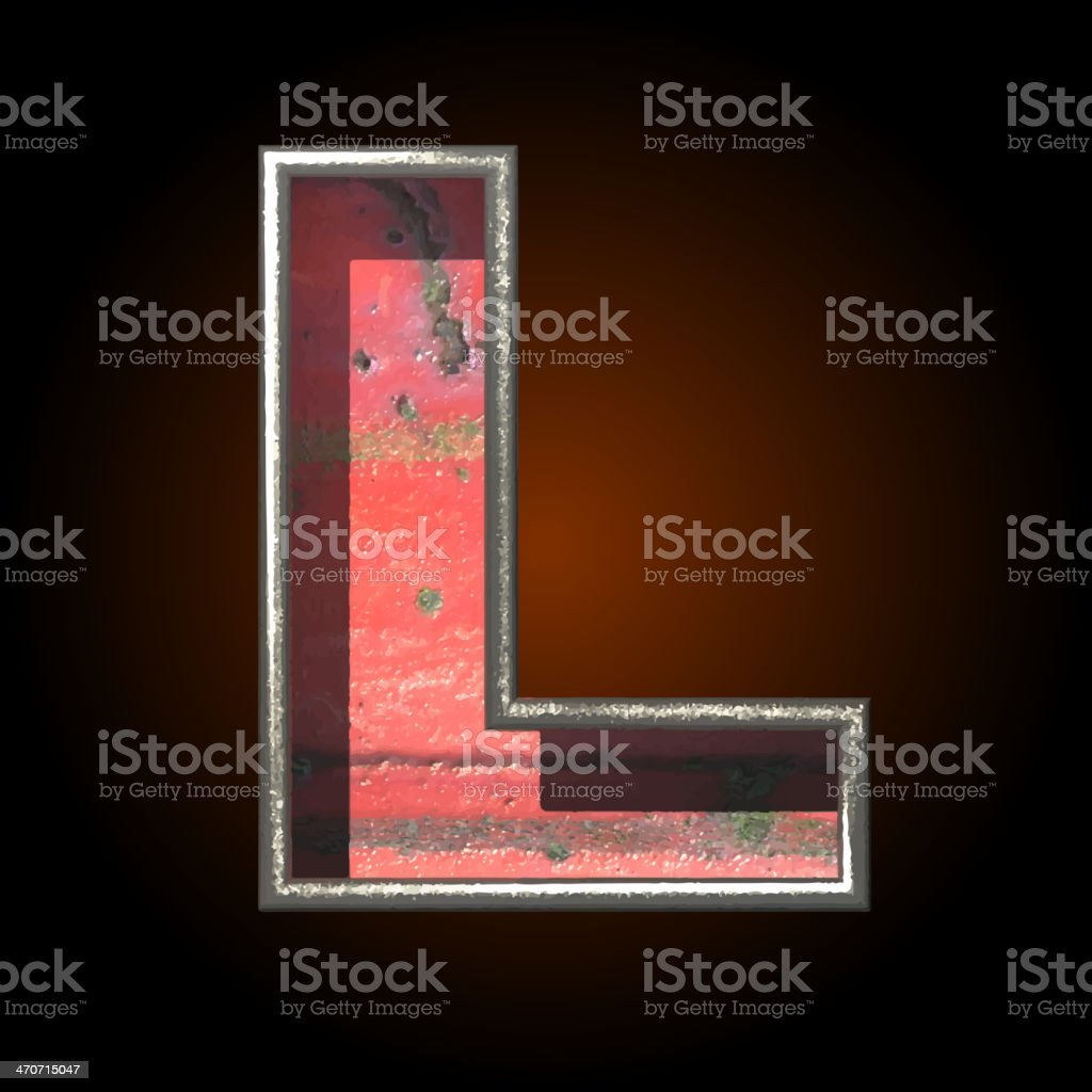 Vector old metal letter l royalty-free vector old metal letter l stock vector art & more images of abstract