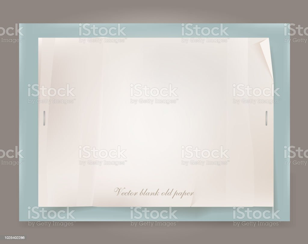 Vector Old Paper Template Stock Vector Art & More Images of Adhesive