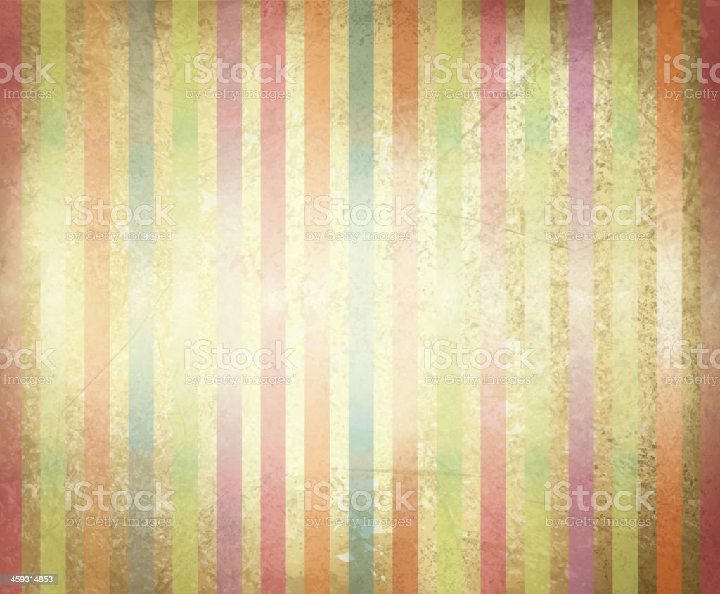 Vector old paper texture with colorful stripes. royalty-free stock vector art