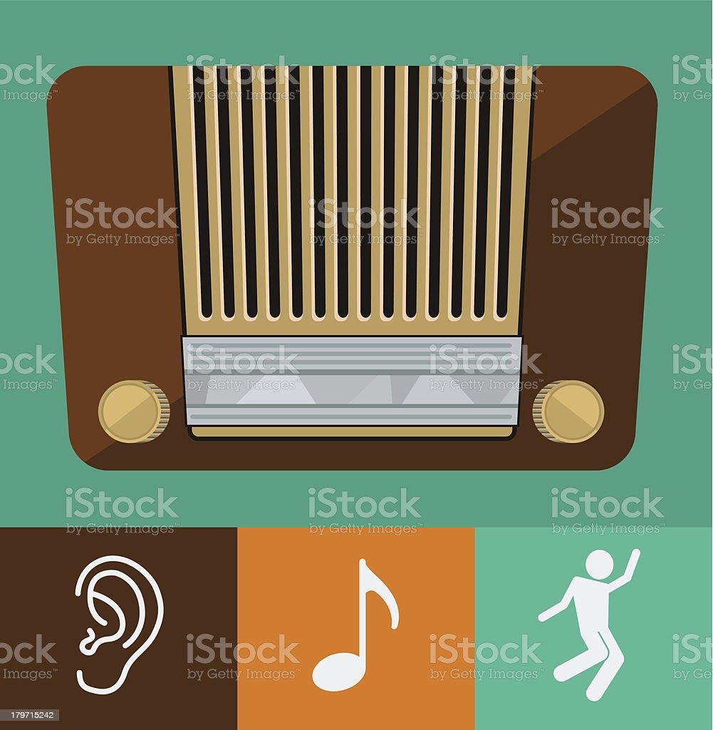 vector old radio royalty-free stock vector art