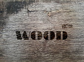 Vector Old Wood Realistic Texture, Dark Wooden Background for Your Design