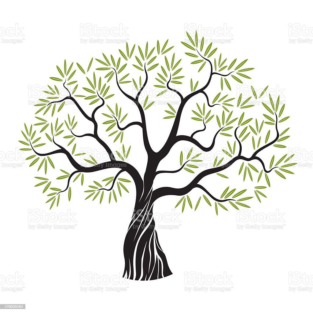 Árbol Vector Verde Oliva - Arte vectorial de stock y más ...