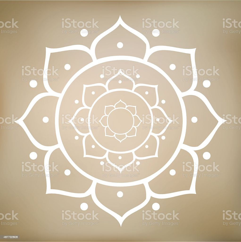 Vector Om Symbol And Lotus Flower Stock Vector Art More Images Of
