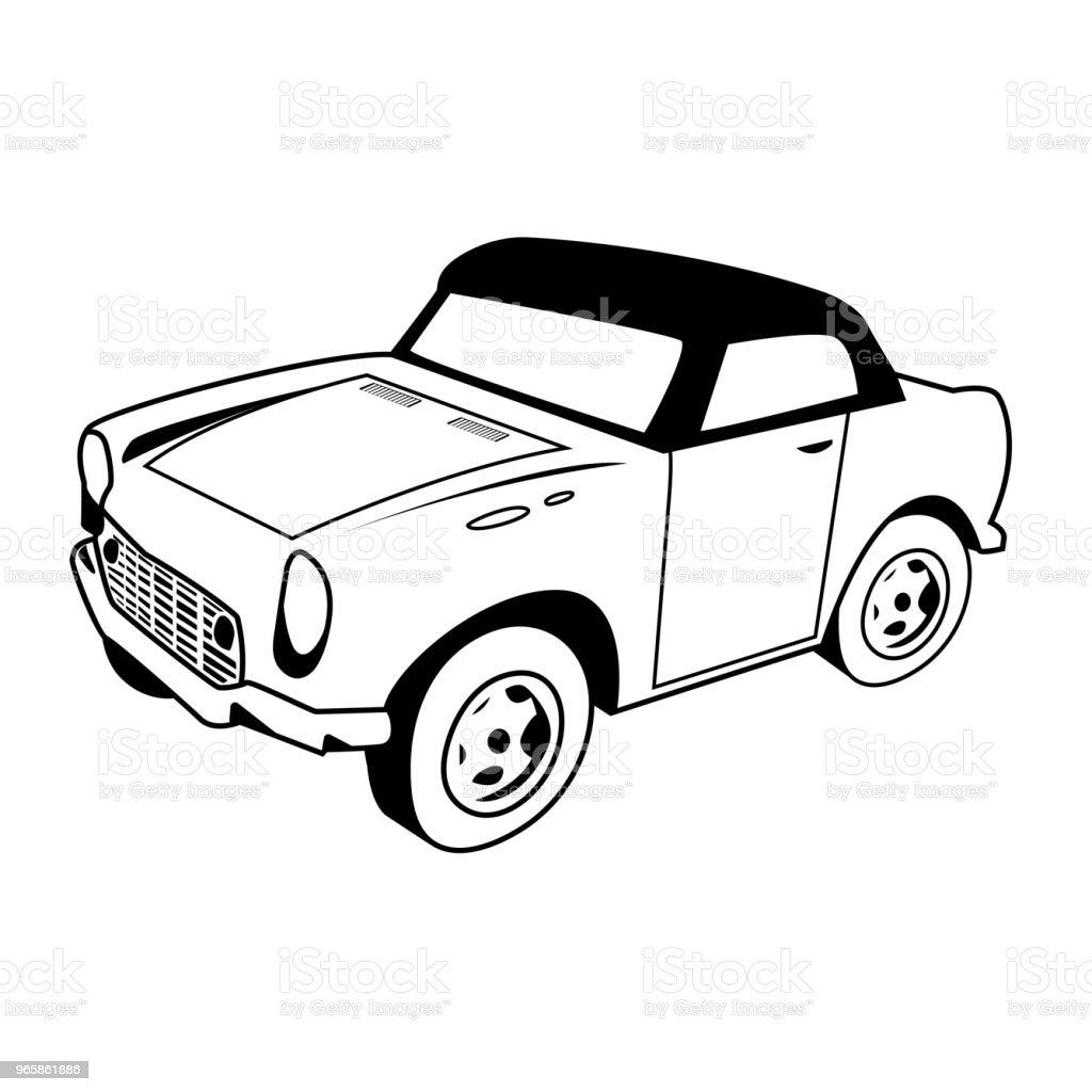CAR CARTOON vector  on white background - Royalty-free Car stock vector