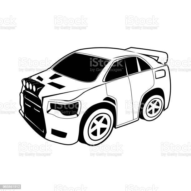 Car Cartoon Vector On White Background - Arte vetorial de stock e mais imagens de Banda desenhada - Produto Artístico