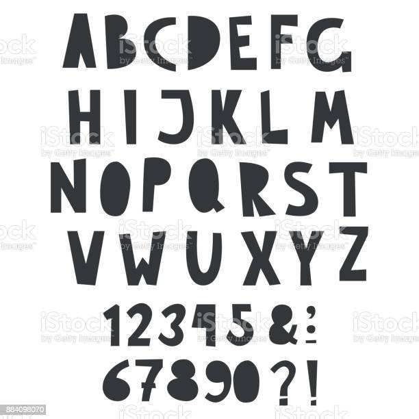 Vector one color fun alphabet with numbers for kid text vector id884098070?b=1&k=6&m=884098070&s=612x612&h= qv41gnnzbcje69qns498h oi97a13fklfhhief4hi4=