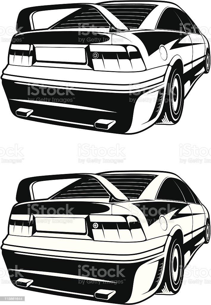 vector Opel Calibra 2 royalty-free stock vector art