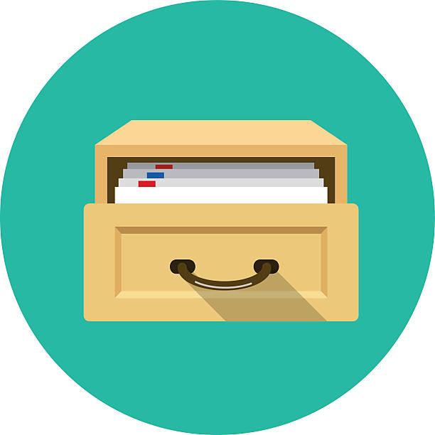 bildbanksillustrationer, clip art samt tecknat material och ikoner med vector open card catalog - byrålåda
