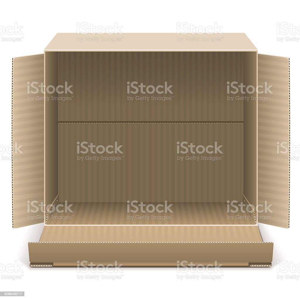 Vector Open Carton Box vector art illustration
