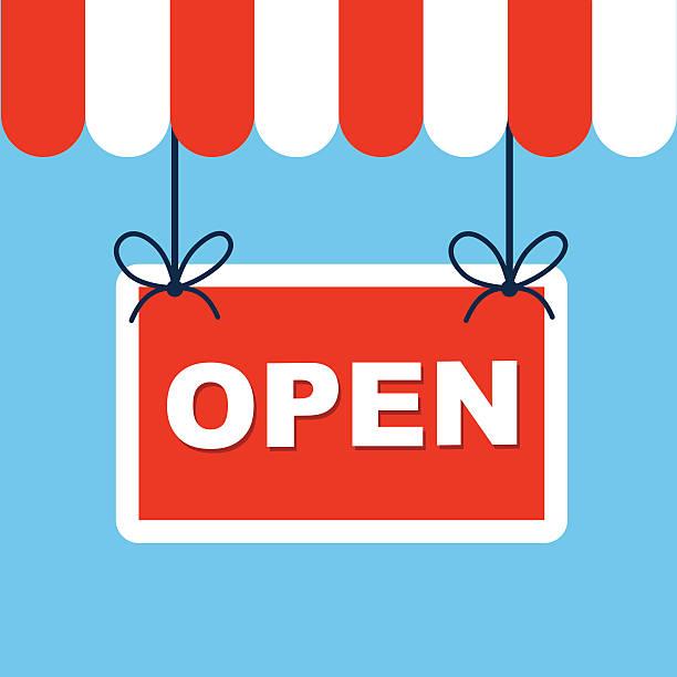 Vector open sign Vector open sign open sign stock illustrations