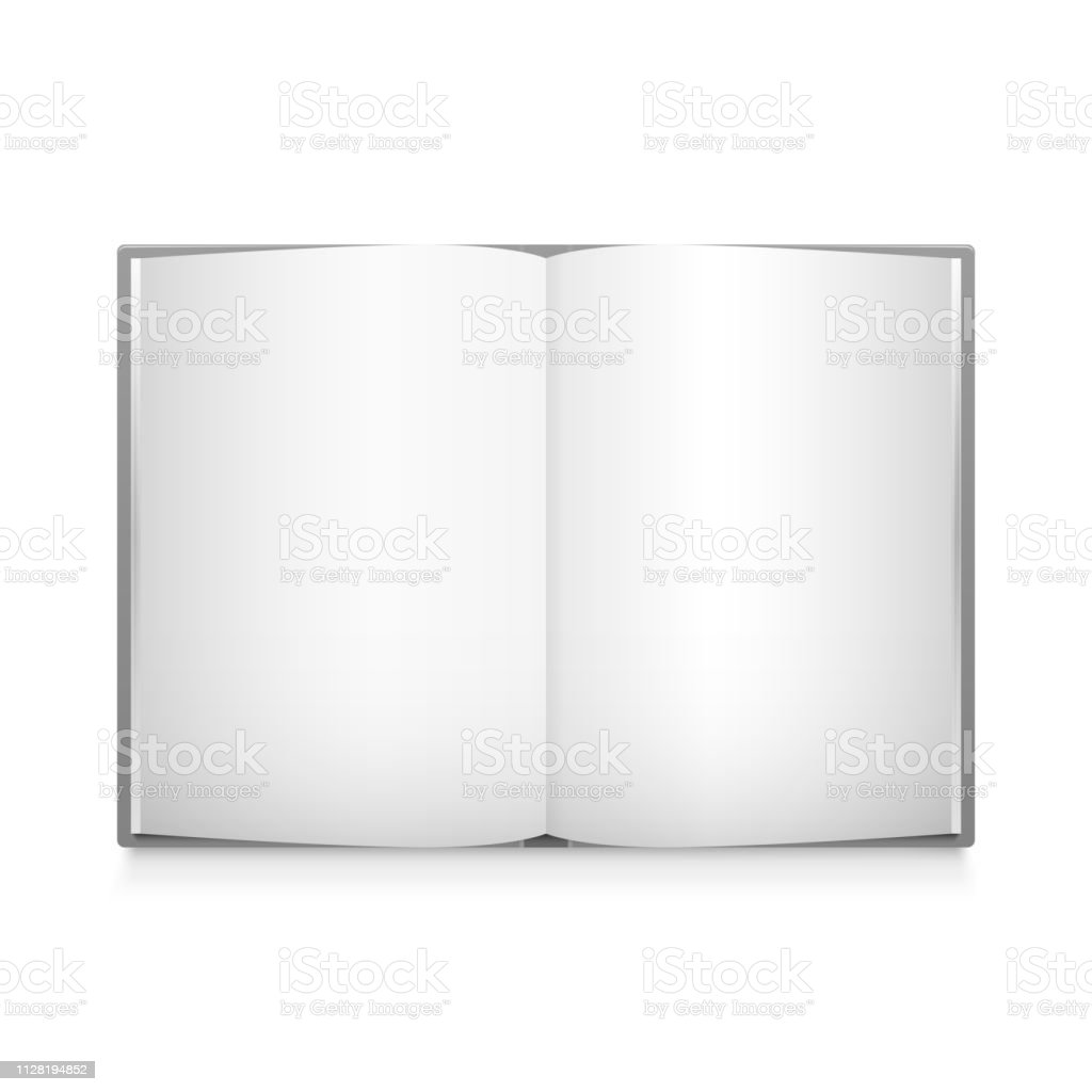 Modele De Livre Blanc Ouvert De Vecteur Vecteurs Libres De