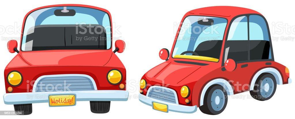 En vektor eller röd Modern bil - Royaltyfri Australien vektorgrafik