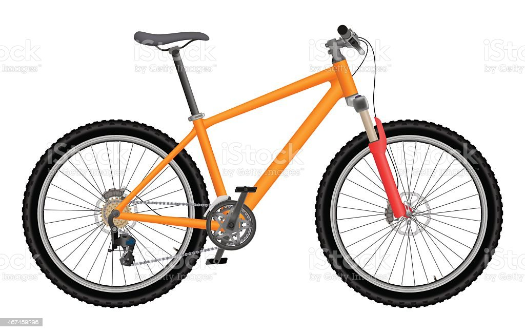 Vector Arancio Bicicletta Immagini Vettoriali Stock E Altre