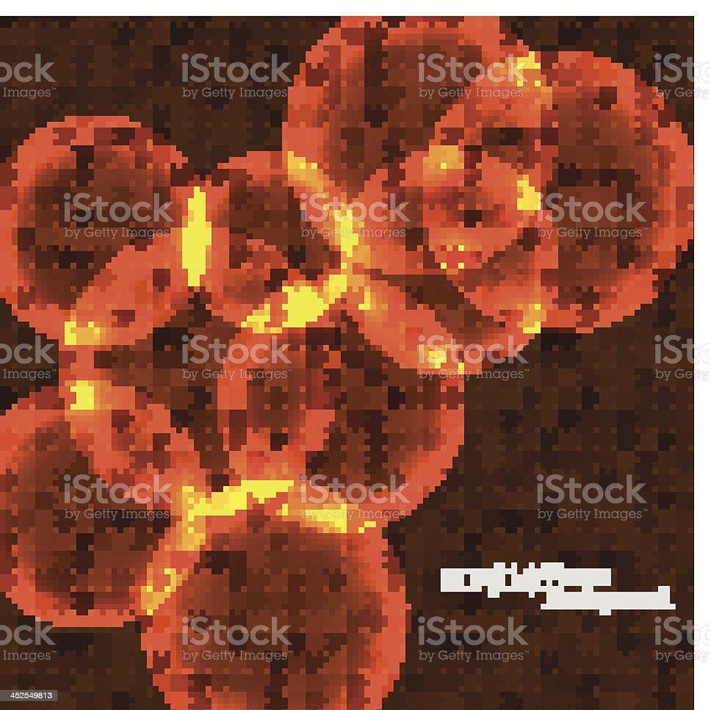 Vector orange bubbles royalty-free stock vector art