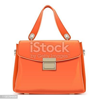 istock Vector Orange Female Handbag 1132294505