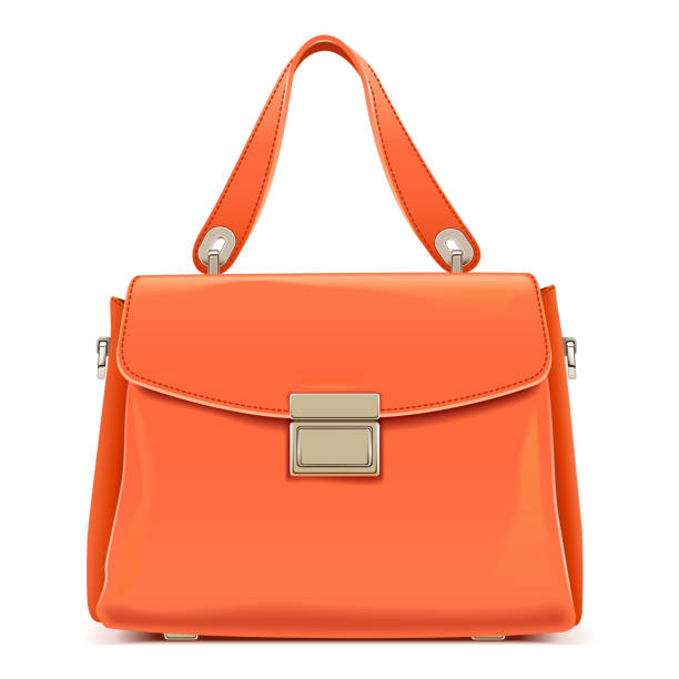 Vector Orange Female Handtasche – Vektorgrafik