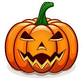 Vector orange halloween pumpkin design
