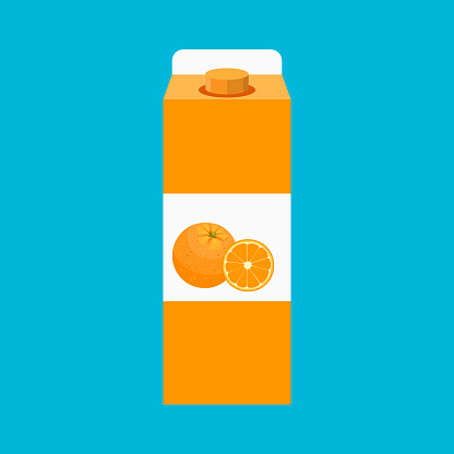 Vector orange juice illustration