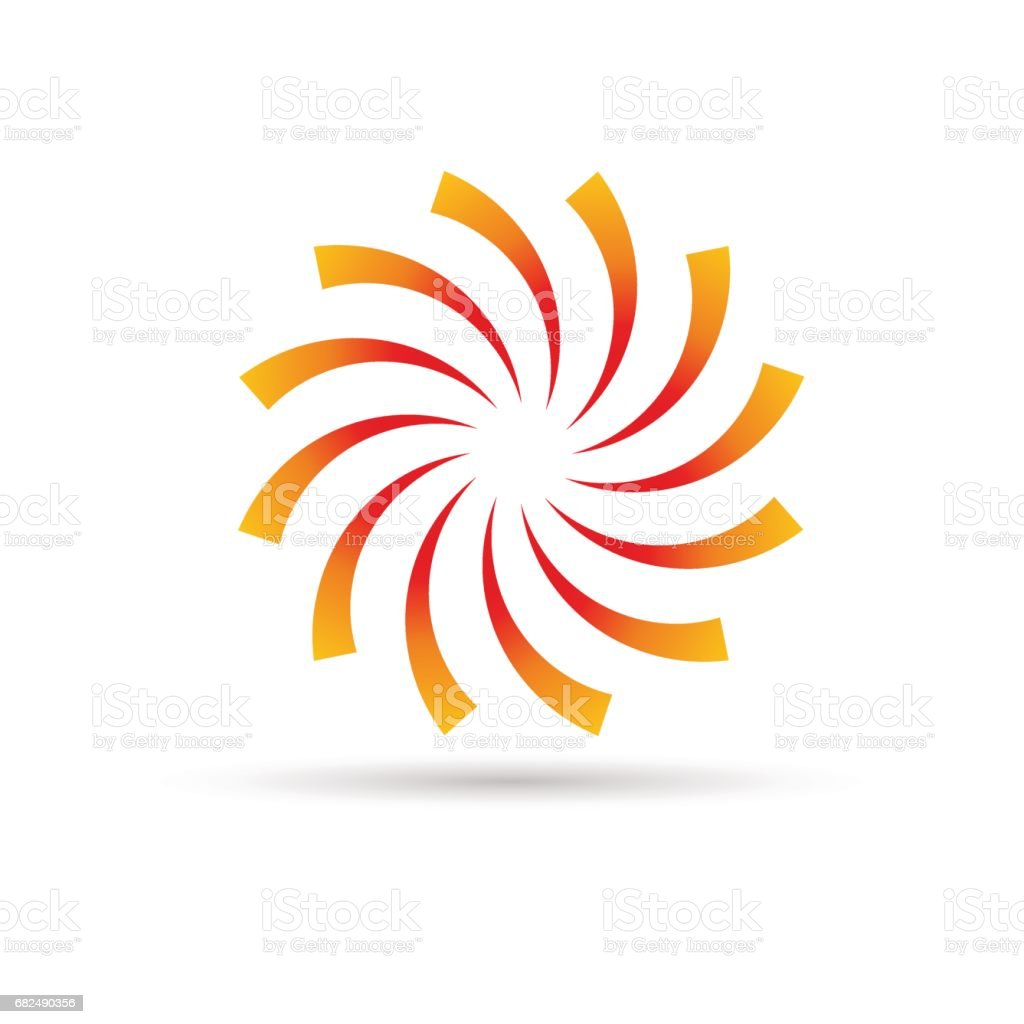 Vector orange Vortex background royalty-free vector orange vortex background stock vector art & more images of abstract