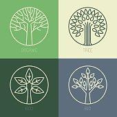 Vector organic badges