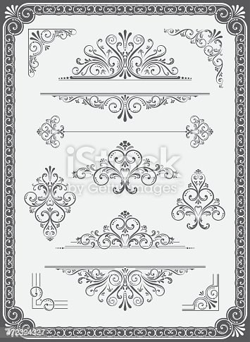 istock Vector Ornament - Frame, Dividers, Corners and Scrolls 472324327