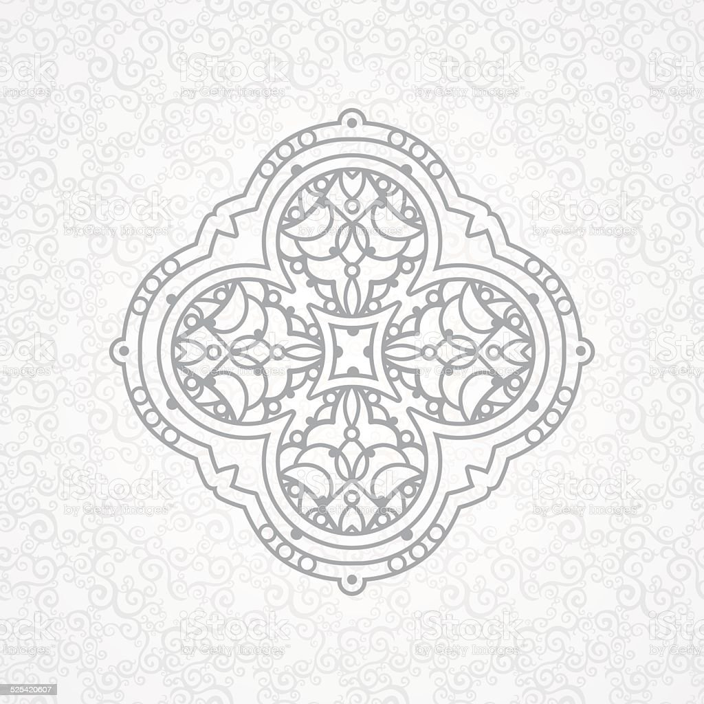 Vector ornament in Eastern style. vector art illustration