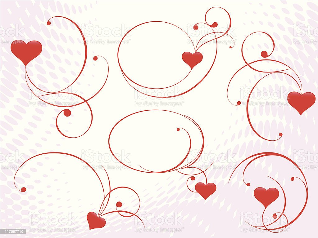 vector ornament with hearts royalty-free stock vector art