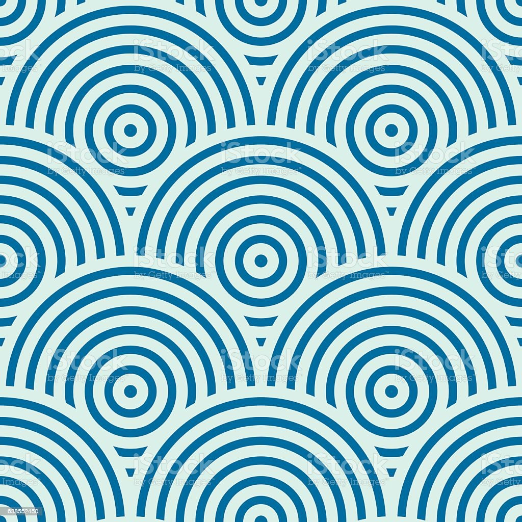 Vector ornamental continuous background made using undulate lines vector art illustration