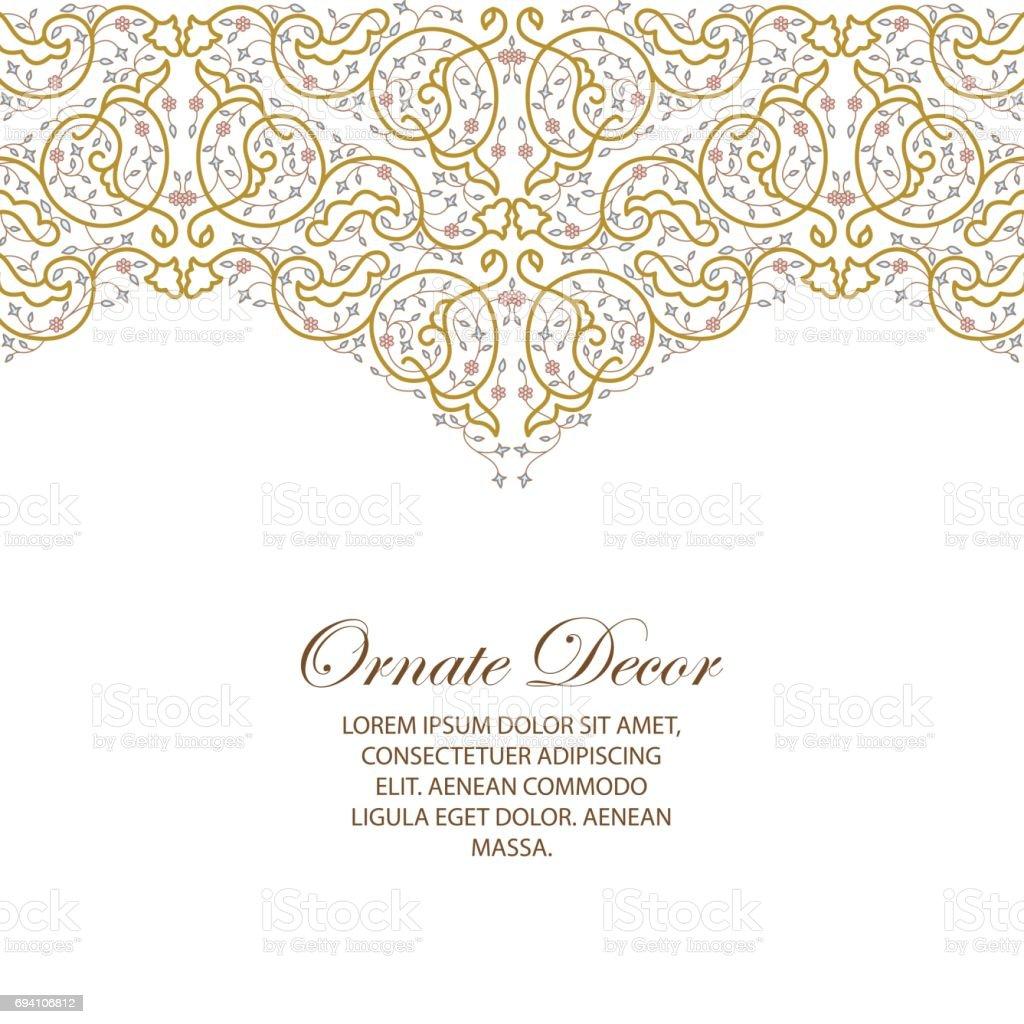 Vector ornamental  decorative element. vector art illustration