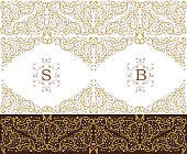 Vector gold ornamental  decorative frame. Elegant ornate  element for design template, place for text. Luxury floral border. Lace decor for birthday and greeting card, wedding invitation,certificate.