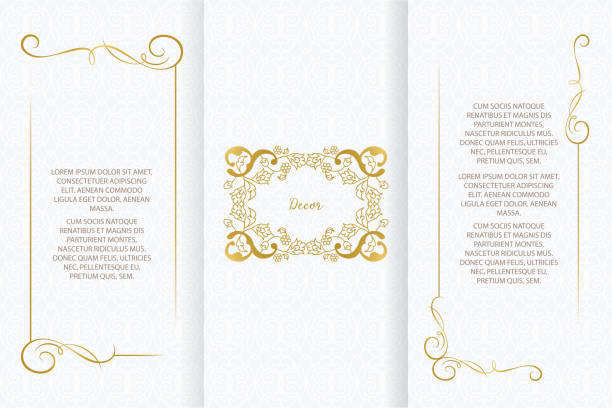 Vector ornamental decorative frame. Vector ornamental decorative frame. Elegant ornate element for design template, place for text. Luxury floral border. Lace decor for birthday and greeting card, wedding invitation,certificate. religion stock illustrations