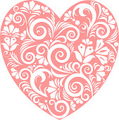 Vector ornamental decorative symbol heart