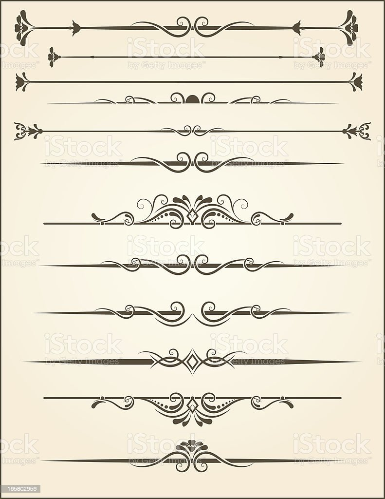 vector Ornamental Page Rules royalty-free vector ornamental page rules stock vector art & more images of 2000-2009