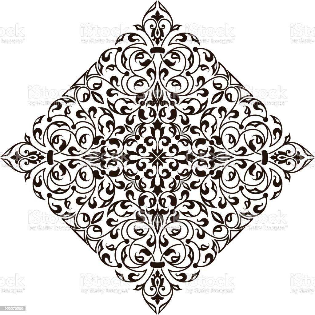 Ilustración de Vector Ornamental Redondo Encaje Con Elementos ...