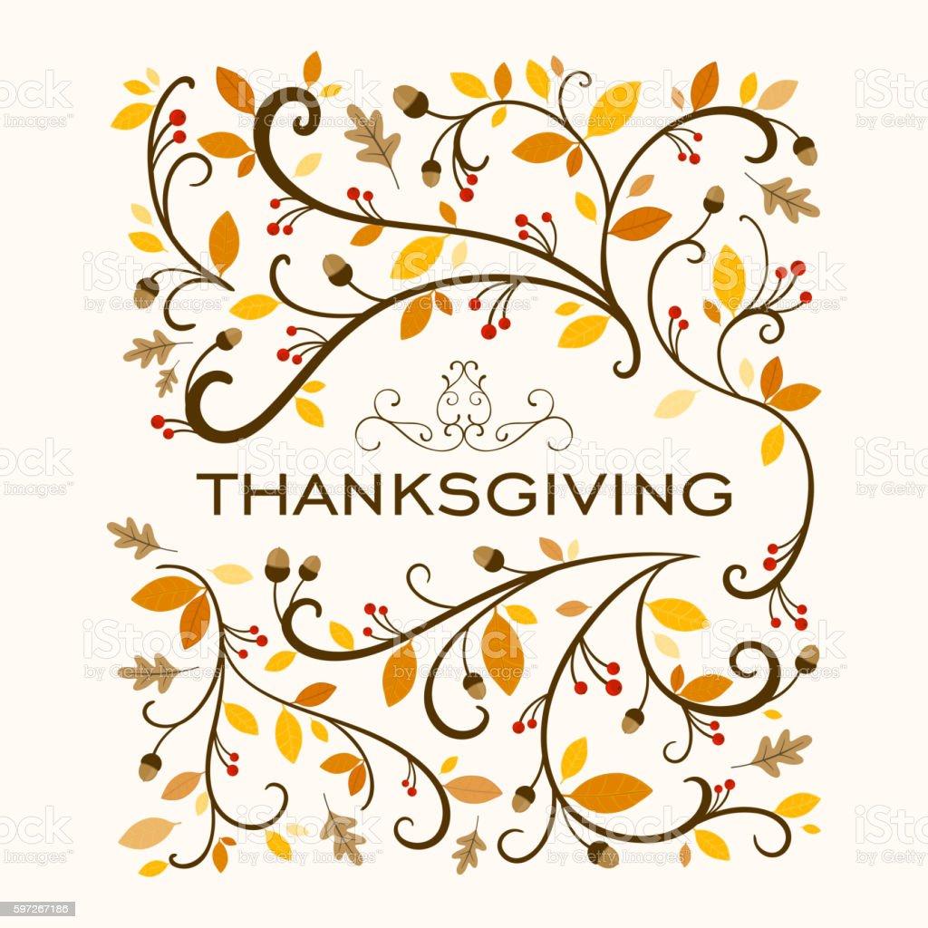 Vector Ornamental Thanksgiving Background Design Lizenzfreies vector ornamental thanksgiving background design stock vektor art und mehr bilder von abstrakt