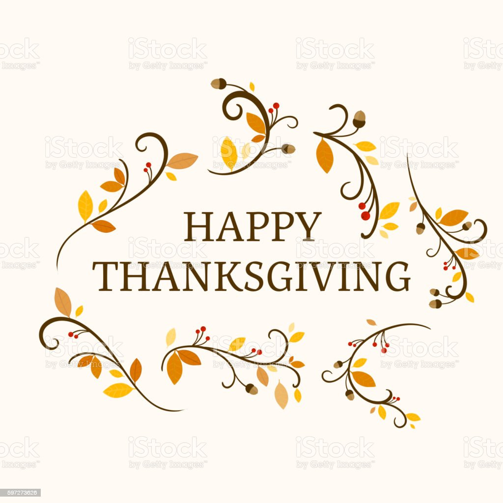 Vector Ornamental Thanksgiving Design Lizenzfreies vector ornamental thanksgiving design stock vektor art und mehr bilder von abstrakt
