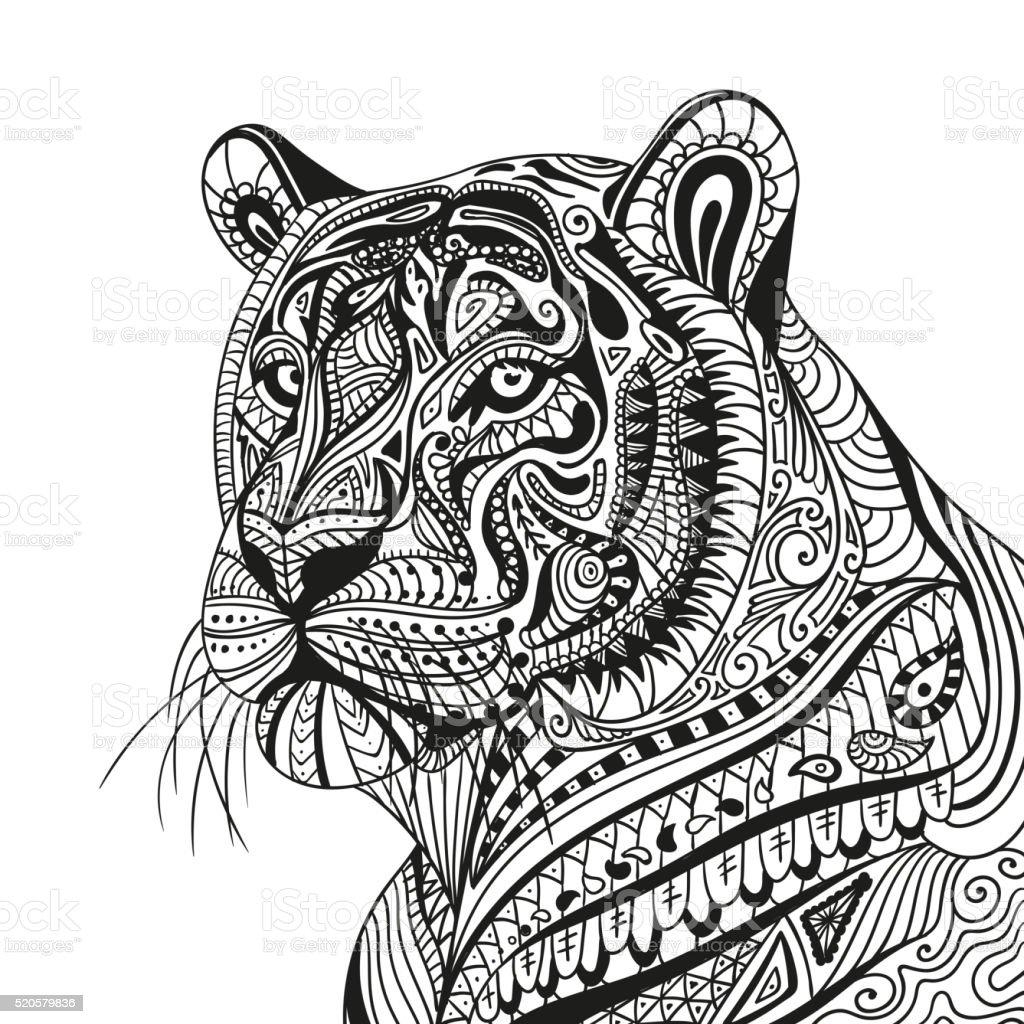 Vector Ornamental Tiger Stock Vector