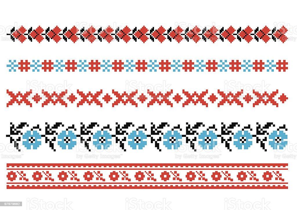 vector ornaments. Ukrainian art borders. Set 4 royalty-free vector ornaments ukrainian art borders set 4 stock vector art & more images of abstract
